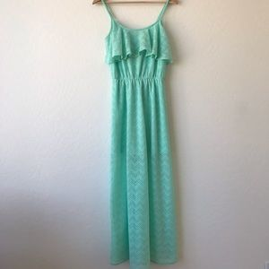 HeartSoul Mint green maxi dress size small